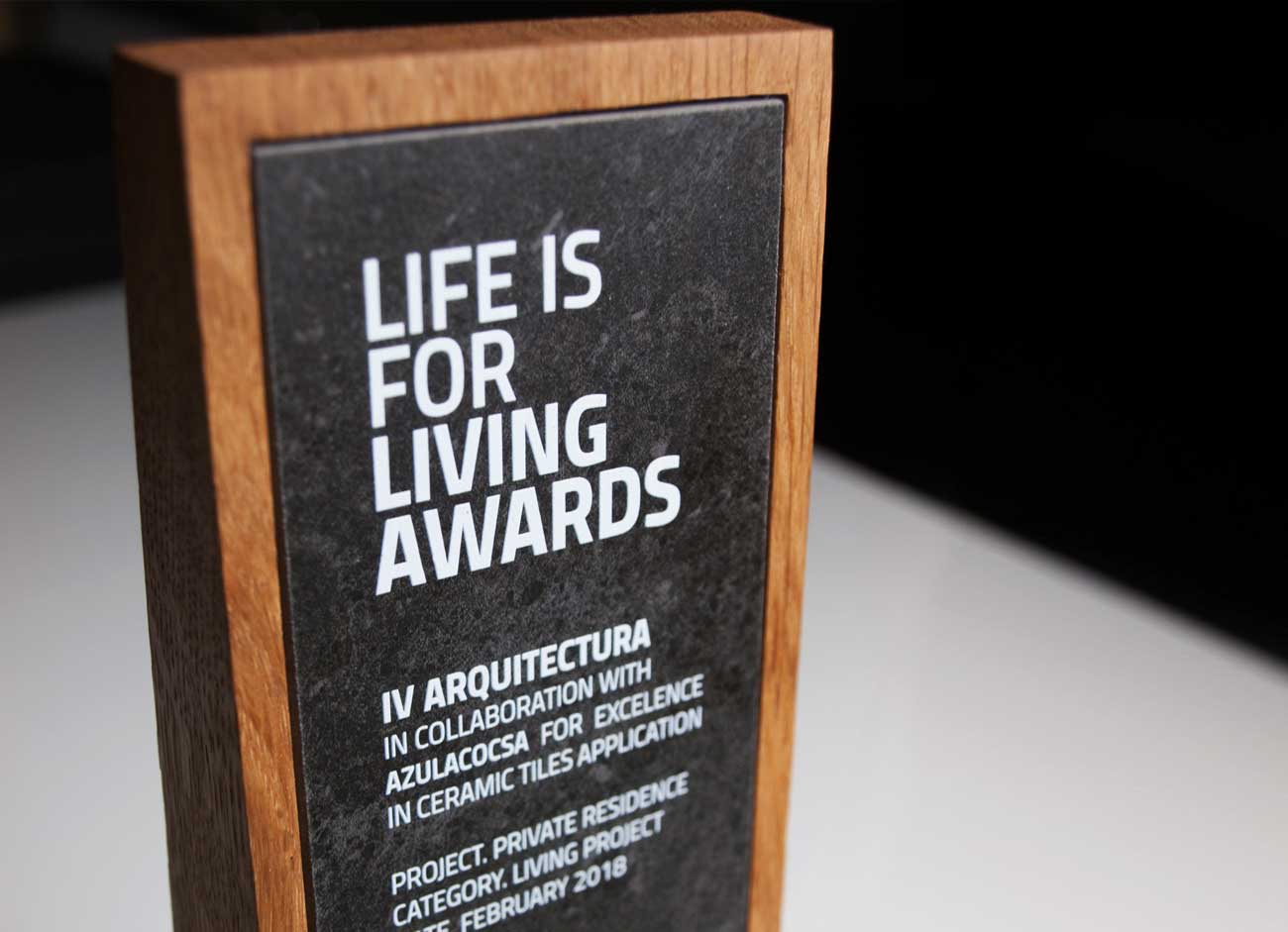 Living Ceramics organiza los II premios Life is for Living · Awards