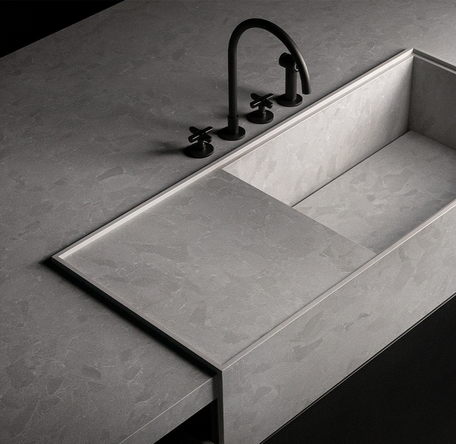 Lithotech®, the 12 mm thick large-format technical sintered stone from Livingceramics