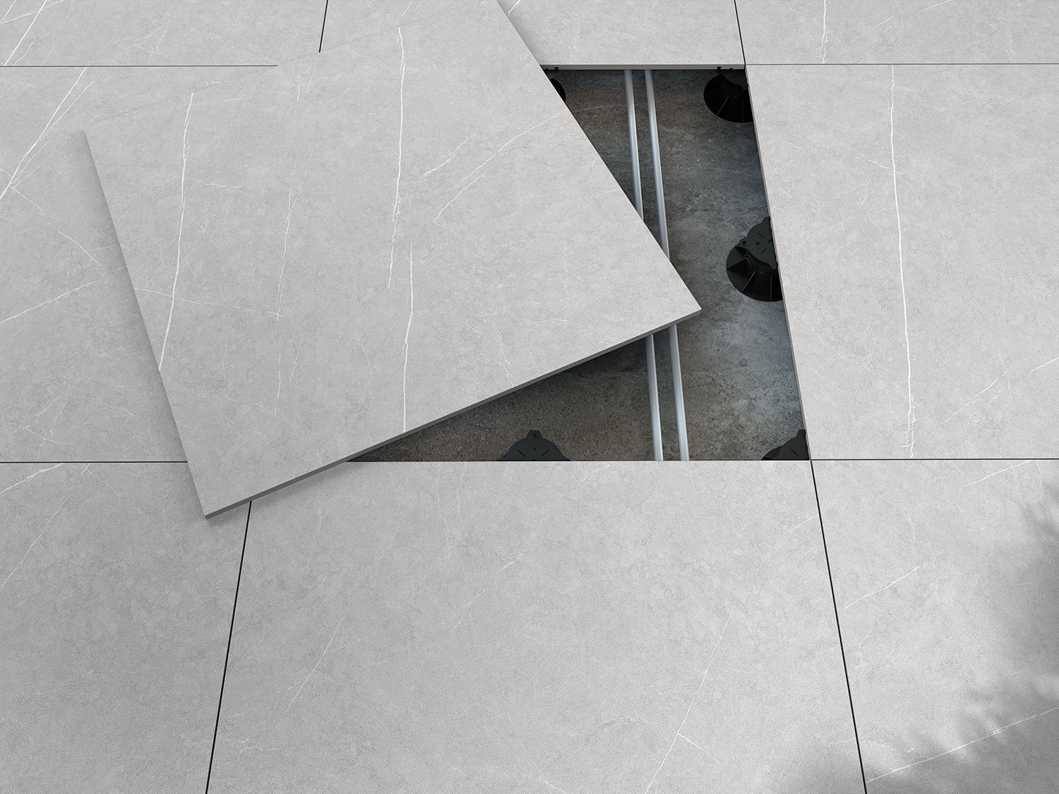 20mm, the porcelain stoneware from Livingceramics perfect for outdoor pavings